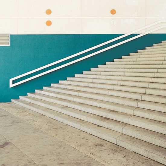 Orange Circle and stairs photgraphy by Matthias Heiderich