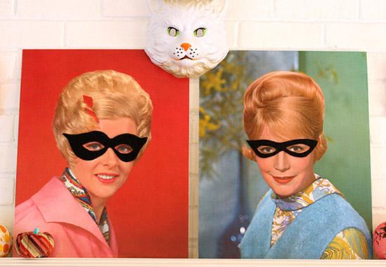 Halloween masks on vintage portraits by Danielle Thompson