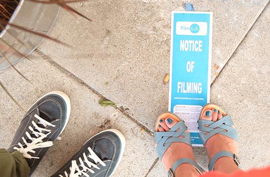 Notice of filming Los Angeles