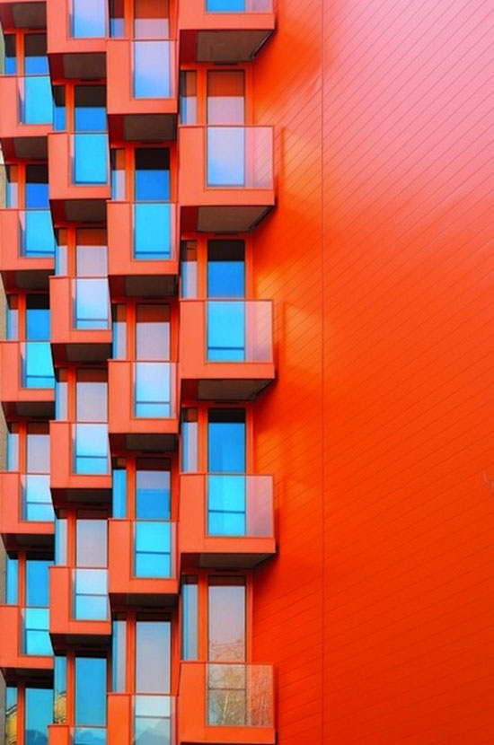 Orange building apartments