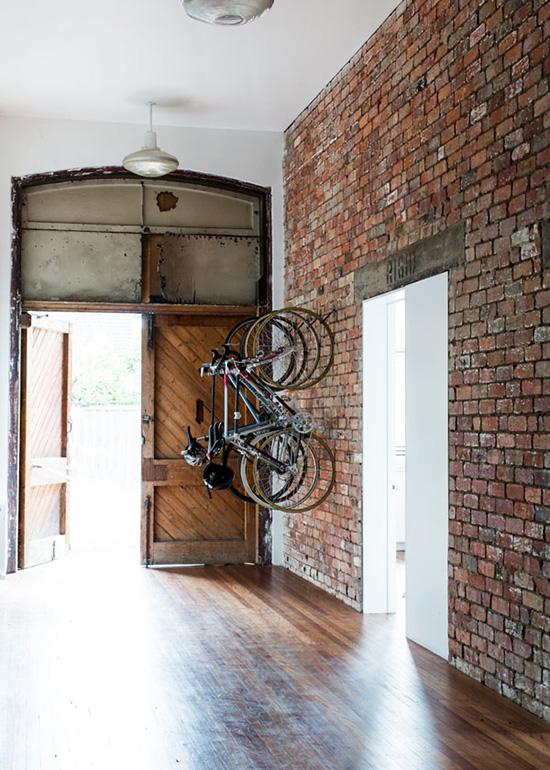 Bicycle brick wall hanging