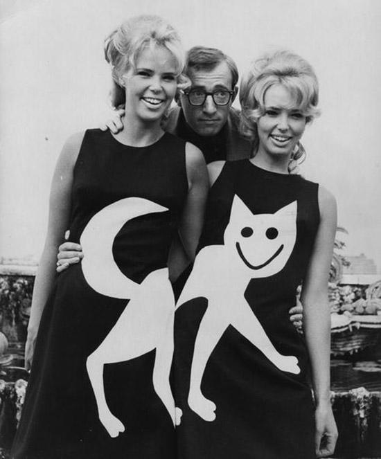 Woody allen cat dress twins