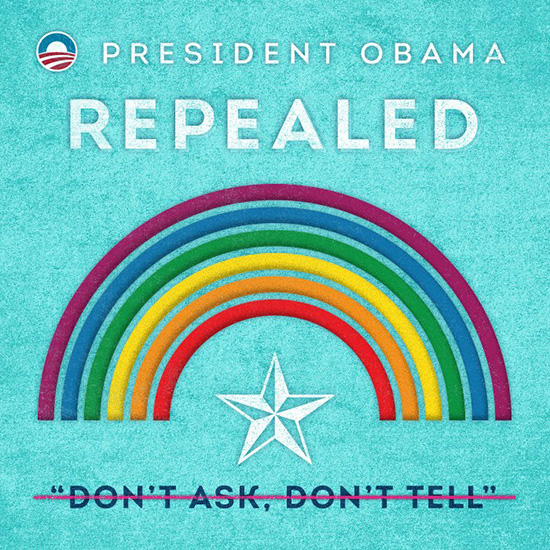 President Obama Repealed Don't Ask Don't Tell