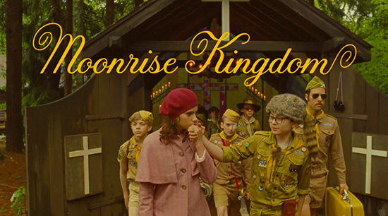 Moonrise Kingdom titles by Jessica Hische font
