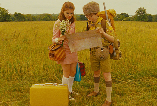 Moonrise kingdom suitcase and map