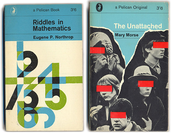 The Pelican Project vintage psychology mathematics book covers