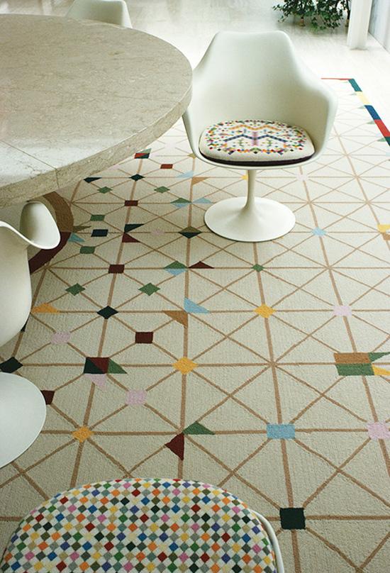 Alexander Girard Miller house Saarinen marble and terrazzo table