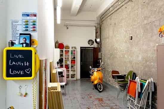 Kelly reemtsen downtown artist loft downtown los angeles orange scooter