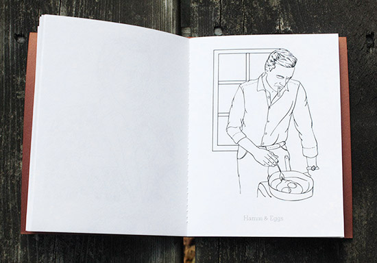 Jon hamm coloring book hamm and eggs