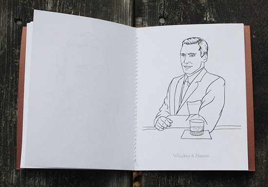 Jon hamm coloring book whiskey and hamm