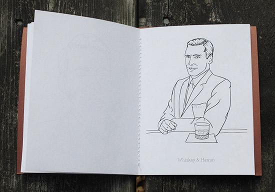 Jon hamm coloring book whiskey and hamm