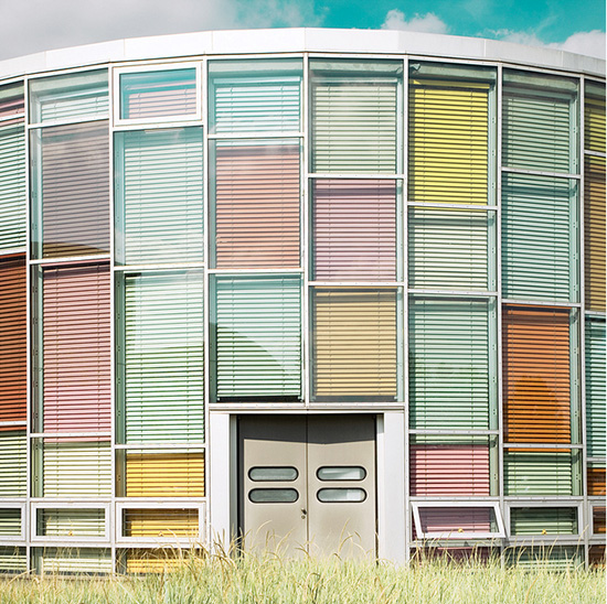 Matthias Heiderich colorful exterior photography multi color blinds