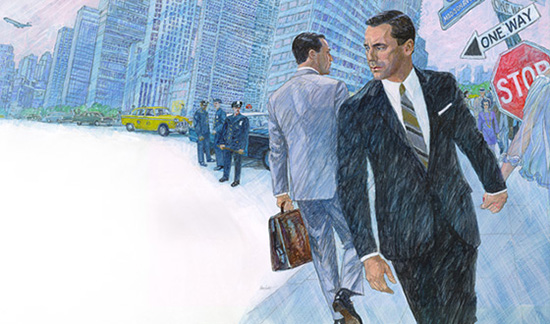 Mad Men season 6 poster key art illustrated by Brian Sanders