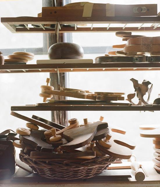 Eva-Zeisel-studio-shelves-Rockland-NY