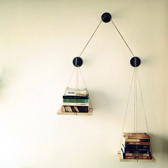 Book scale pulley