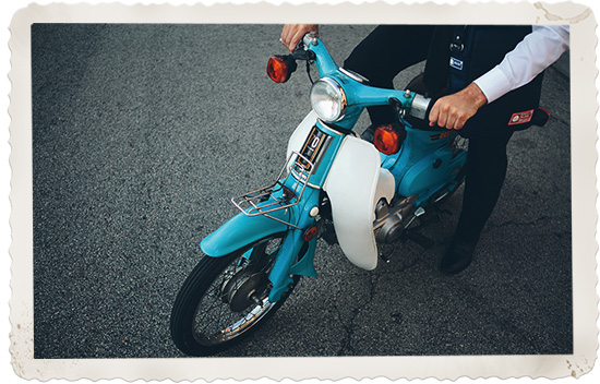 Pan Am 707 vintage style luggage collection Nathan Michael photography moped