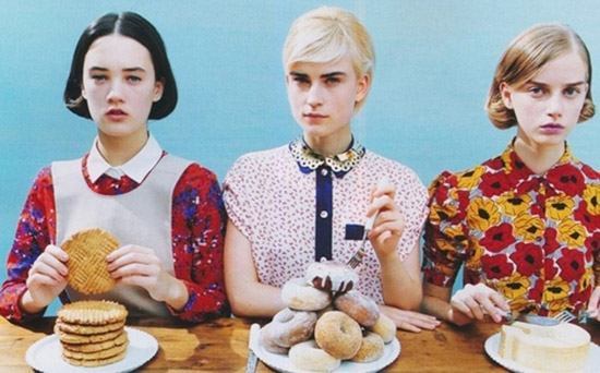 Jana Knauerová Laragh and Lovisa Ingman for Spur february 2012 by Hiroko Matsubara