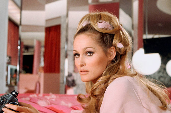 Ursula Andress in Casino Royale Pink feathers