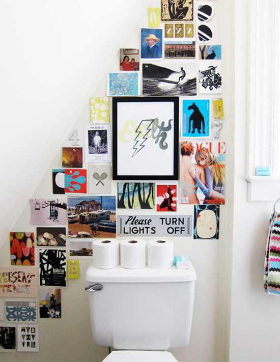 Art postcard gallery bathroom