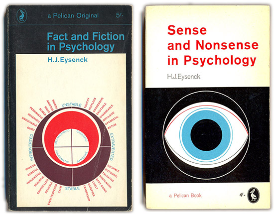 The Pelican Project vintage psychology book covers