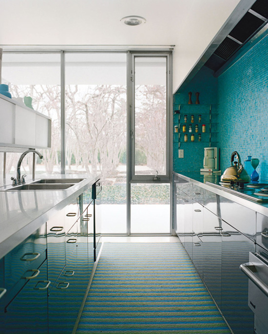 Alexander Girard Miller house mosaic tile wall Leslie Williamson photography