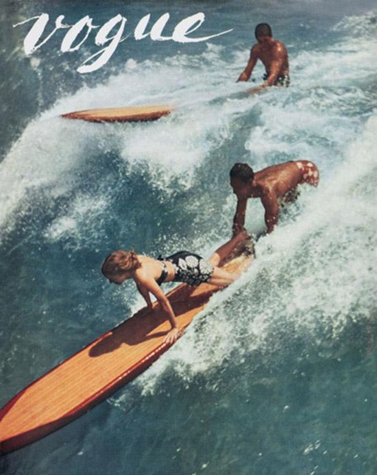 Vintage Vogue surfers