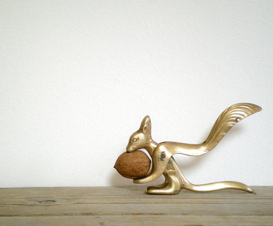 Vintage Art Deco era nut cracker squirrel