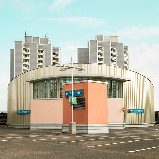 Matthias Heiderich colorful exterior photography parking lot