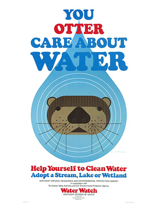 Charley harper you otter care abou water