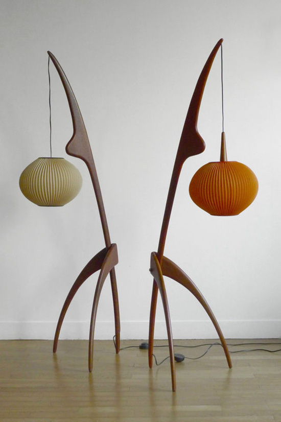 950 MODERNIST FLOORLAMPS by RISPAL