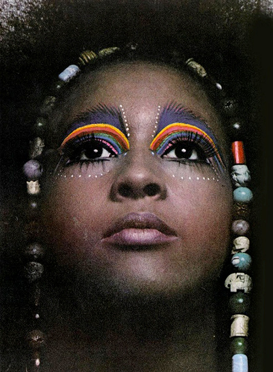 1960s Rainbow eyeshadow Makeup