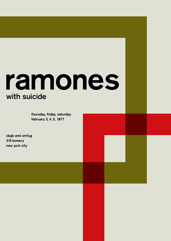 Ramones SWISSTED Vintage Rock Posters Remixed and Reimagined by Mike Joyce