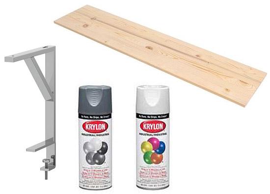 Ikea hack EKBY TRYGGVE and EKBY TORE book shelf latex pain