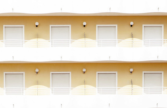 Vintage balcony beach hotel facades Jesolo Beach Venice Luigi Bonaventura photography