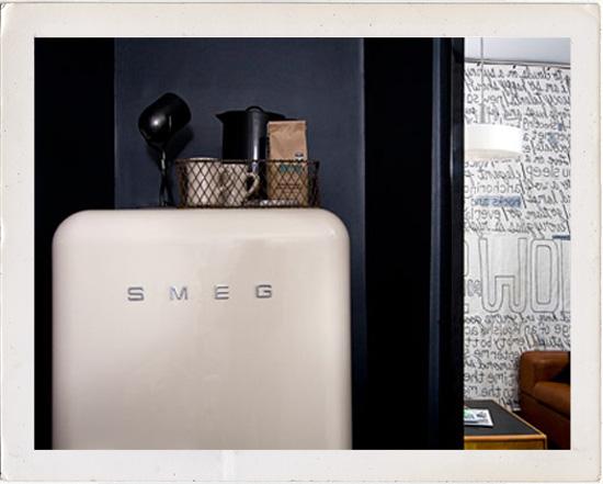 White Smeg refrigerator Ace Hotel