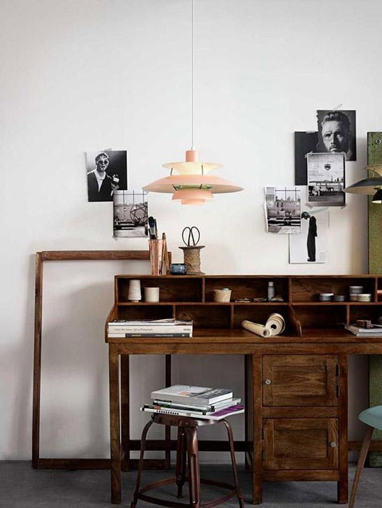 Industrial vintage modern office desk