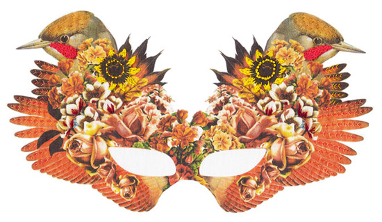 Embroidered bird mask laura mckellar