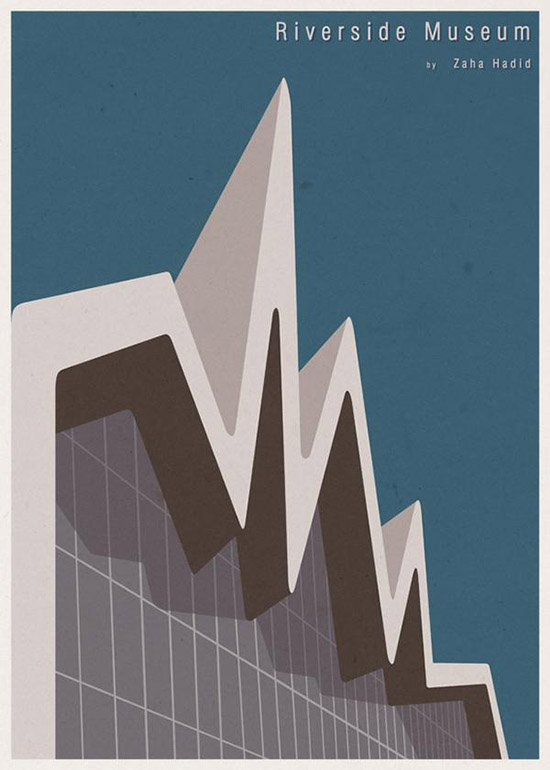 Riverside Museum Architecture Illustration by Andre Chiote