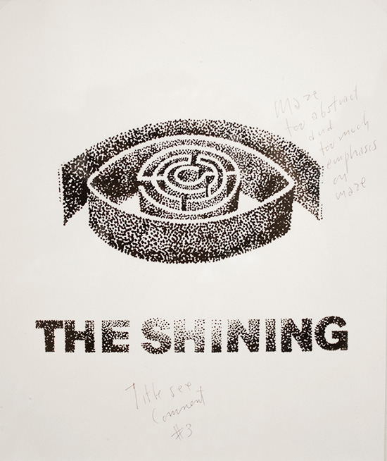 Kubrick exhibit LACMAThe Shining rejected poster