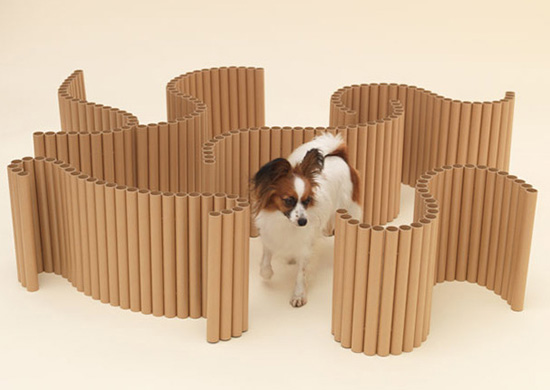 Papier Papillon by Shigeru Ban for a Papillon in Architecture for Dogs