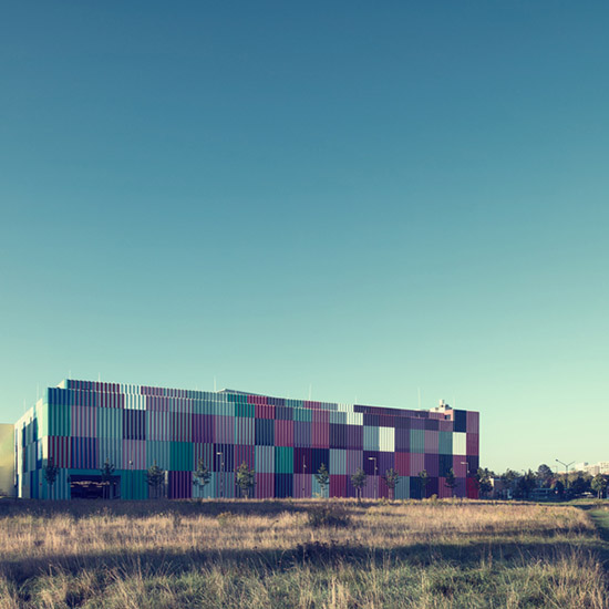 Nick Frank Behance multi color Mira exterior building photography Munich Germany