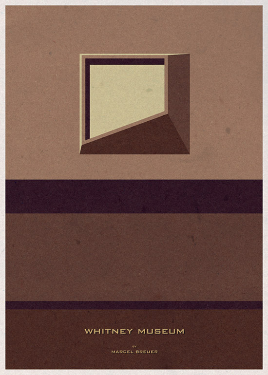 Whitney Museum Architecture Illustration by Andre Chiote