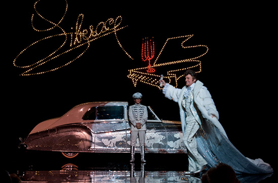 Michael Douglas Matt Damon stage rhinestone car Liberace Behind the Candelabra HBO