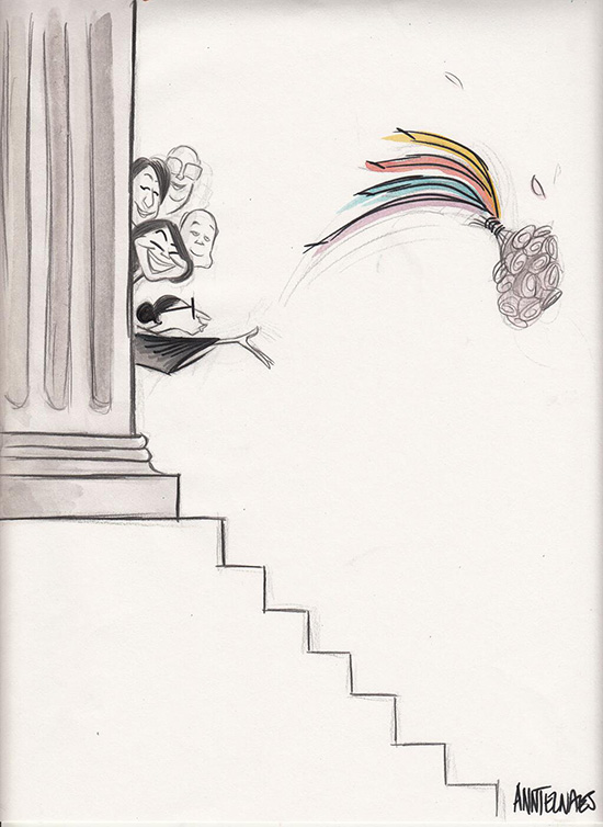 Ann Telnaes animation Supreme Court strikes down DOMA