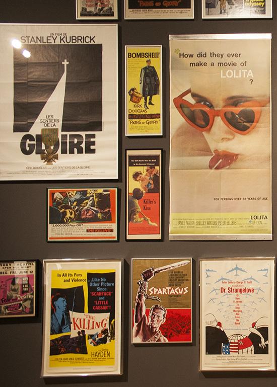 Film posters Lolita Stanley Kubrick exhibit LACMA