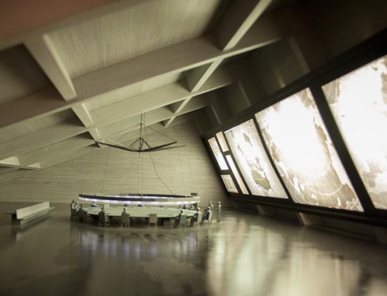 Dr Strangelove war room miniature Kubrick exhibit LACMA