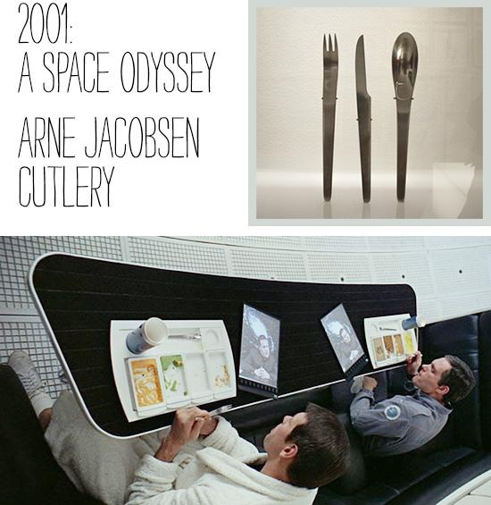Arne Jacobsen cutlery 2001 A Space Odyssey Kubrick LACMA exhibit