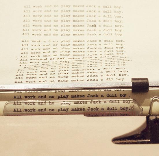 The Shining Alder typewriter All Work and No Play Kubrick LACMA