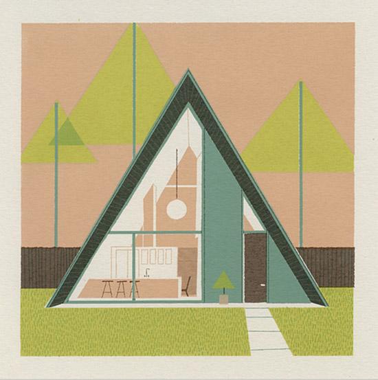 Mid century triangle house chris turnham
