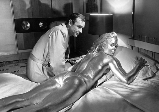 Behind the scenes Goldfinger Sean Connery